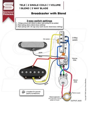 broadcaster blend wiring issue telecaster guitar forum