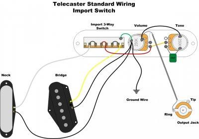 Fender 52 Telecaster Wiring Diagram 3 Way | Wiring Schematic ... on