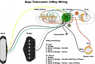 Coil-tapped bridge pup (Twin Lion) wiring question ... on