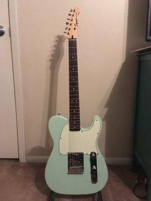 Surf green FSR bullet tele Esquire project! | Telecaster