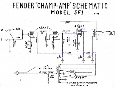 Champ 5f1 rectifier/gain question | Telecaster Guitar Forum on