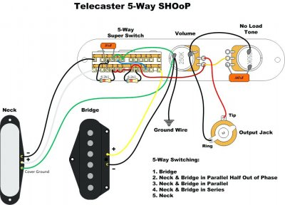 tele 5 way switch mod but with 3 switches wiring help rh tdpri com Telecaster 3 -Way Switch Wiring Diagram telecaster wiring diagrams 5 way switch