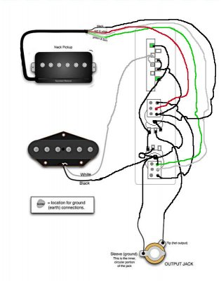 wiring diagram 2 humbuckers 1 volume 3 way switch with Dean Vendetta Wiring Diagram on 3 Way Toggle Switch Guitar Wiring Diagram also Double Neck Guitar Wiring Schematic And Diagram as well Dimarzio Wiring Diagrams Humbuckers in addition Coil Tap Wiring Diagram besides 2 Humbuckers 3 Way Toggle Switch 2 Volumes 1 Tone Individual Coil Taps.