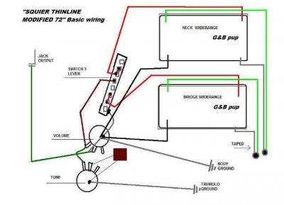 split wiring about modified 72 thinline telecaster guitar Fender Wide Range Pickup Wiring Diagram