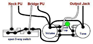 implications of volume and tone pots being wired in parallel vs in rh tdpri com tone pot wiring options tone pot wiring variations