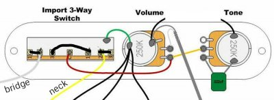 Series Mods With Import Alpha 3 Way Switch Telecaster Guitar Forum