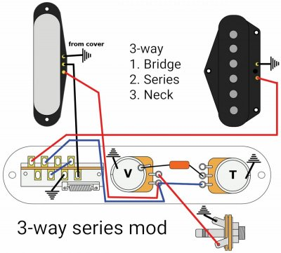 [SCHEMATICS_48IS]  Series mods with import/alpha 3-way switch | Telecaster Guitar Forum | Switch Series Wiring Diagram |  | TDPRI.com