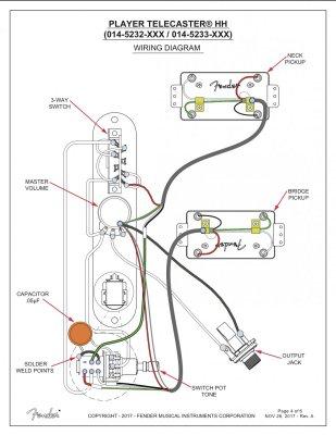 Wiring tele HH 2x double tap   Telecaster Guitar ForumTDPRI.com