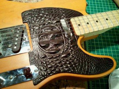 Alligator Leather Pickguard | Telecaster Guitar Forum
