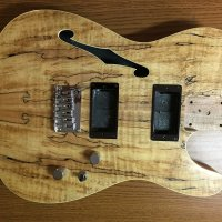 Spalted Maple Thinline Tele Body
