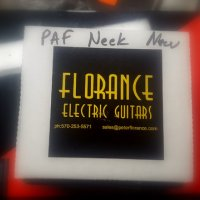 peter florance 59 neck with aged cover.. NIB
