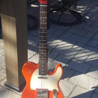 "fiesta red ""non prom queen"" telecaster with subtle gig bag"