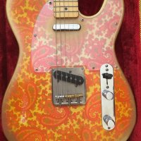 Crook Custom Aged Pink Paisley Telecaster