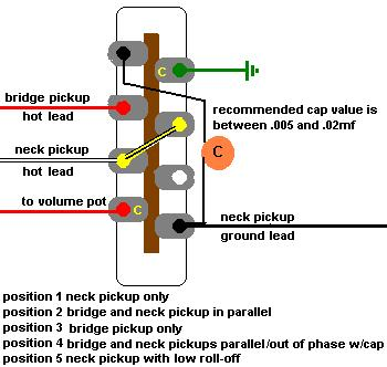 Re: 5-way switch with a two pickup Tele | Telecaster Guitar Forum