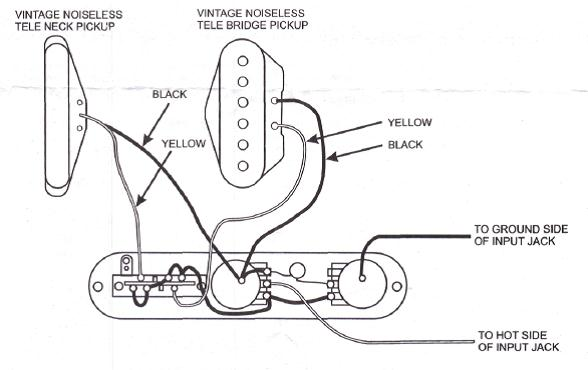 Vintage Noiseless Wiring And Treble