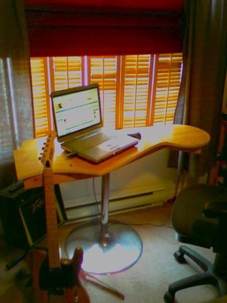 Telecaster Headstock Coffee table  Telecaster Guitar Forum -> Table À Télé