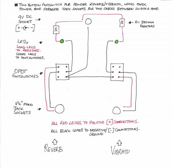 Wiring For Fender Two Button Footswitch With Leds Telecaster Guitar Forum