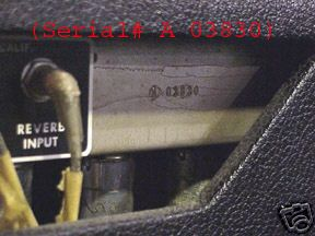 serial number fender amp