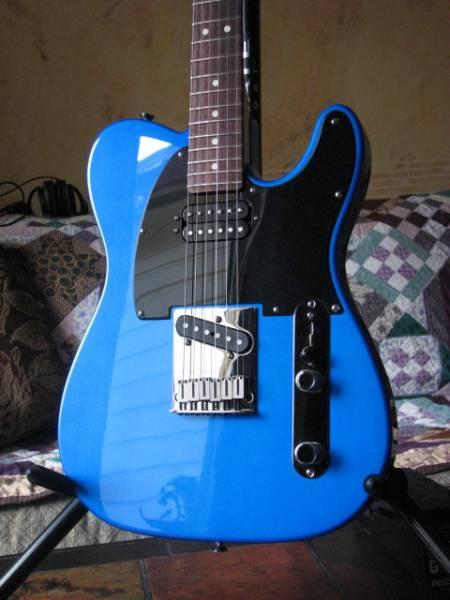 Blue Telecaster With Black Pickguard Telecaster Guitar