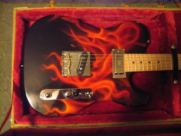 Flamed hot tele