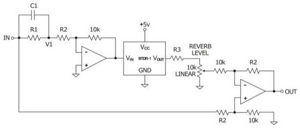 help me diagnose an op amp reverb driver circuit i built. Black Bedroom Furniture Sets. Home Design Ideas